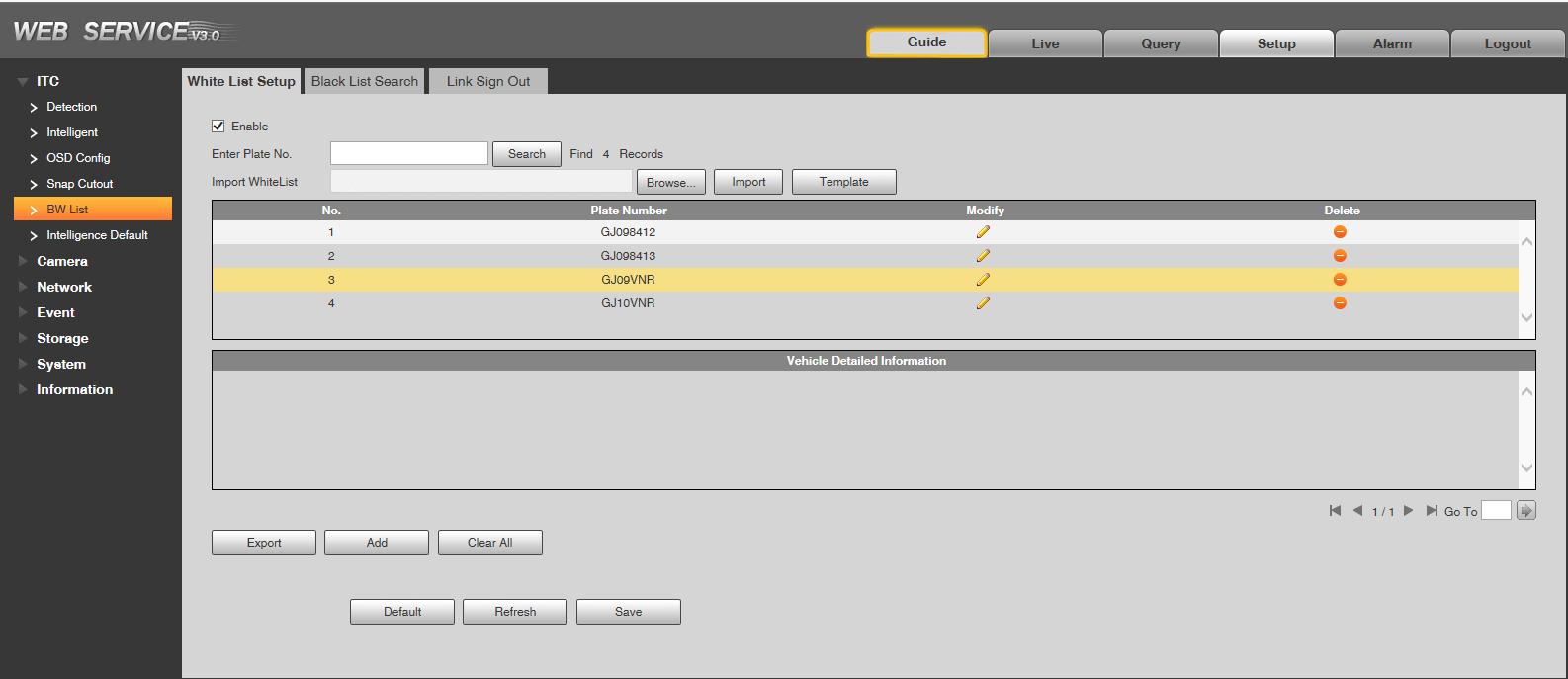 Integrarea camerelor LPR Dahua, Hikvision, Sunell in sistemele