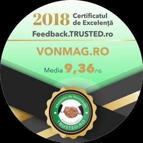 Certificatul de Excelenta 2018 (Feedback.TRUSTED.ro)