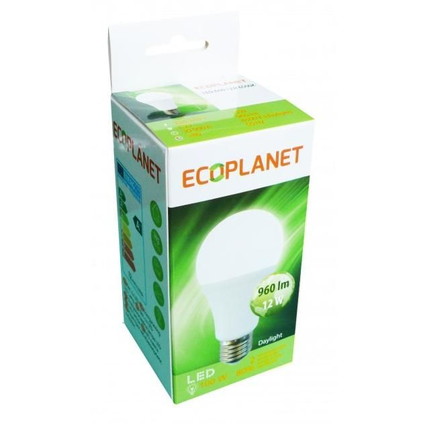 Bec cu LED Ecoplanet A60 12W E27 2700K lumina calda
