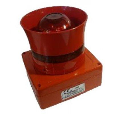 Sirena Wireless 1124-WSD-F de culoare rosie cu flash