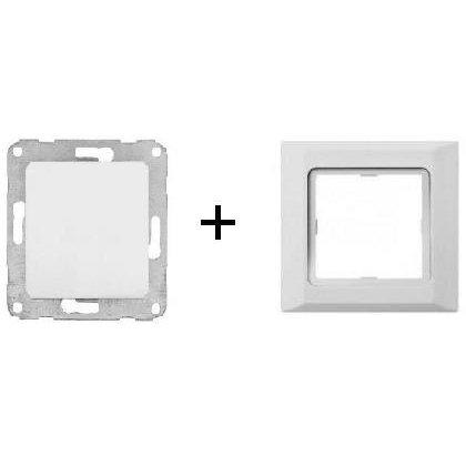 Intrerupator simplu/cap scara + rama Polo Hager 12017202