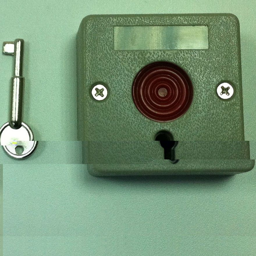 Buton de urgenta plastic cu cheie RFT PB-45