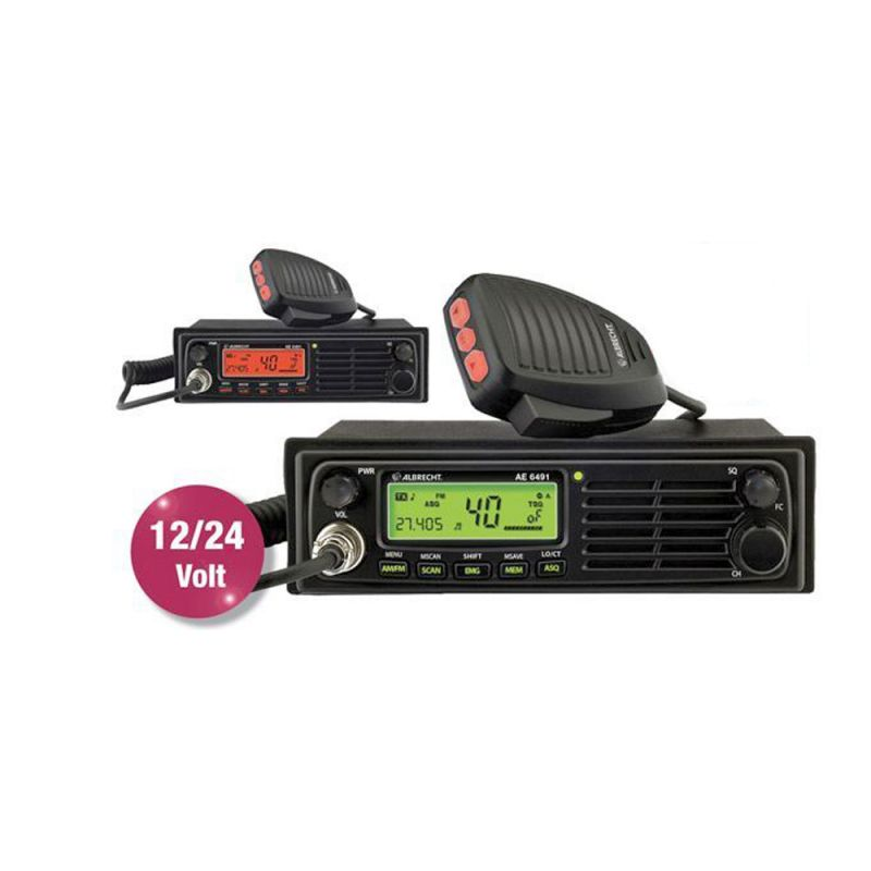 Statie Radio Cb Albrecht Ae 6491 Cod 12648 Convertor Automat 12-24v