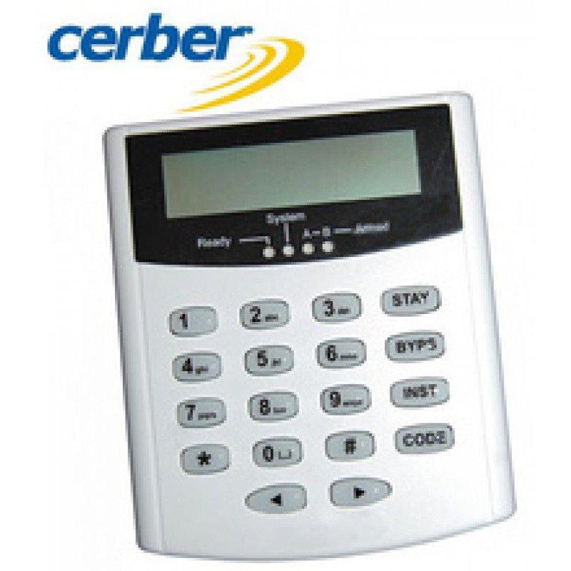 Tastatura LCD adresabila Cerber KP-16LCDL-B/W