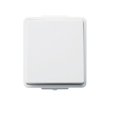 Intrerupator simplu/cap scara aparent Polo Hager 16000509