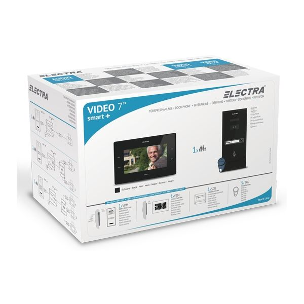 Kit Videointerfon Pentru 1 Familie Electra Vkm.p1sr.t7s4.elb Montaj Aplicat