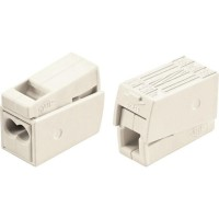 Set 10 cutii de conexiuni cu buton 1P/3pin 2,5mm2 24A Wago 224-112