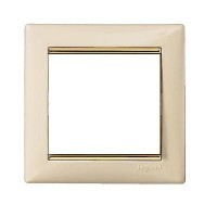 Rama ornament 1 post fildes/auriu Valena Legrand 774151