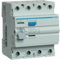 Intreruptor diferential 4P 25A, 30mA, AC Hager CD426J