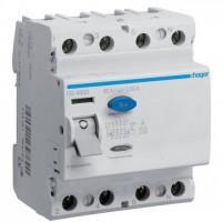 Intreruptor diferential 4P 80A, 30mA, A Hager CD480D