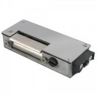 Yala electromagnetica incastrabila DORCAS-62AaD-L rezistenta la apa si praf, montaj pe stanga, nereversibila, 8-12V