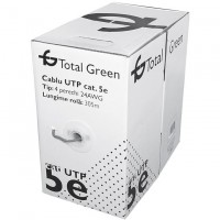 Cablu UTP CAT5E Total Green EL0017647 rola 305M