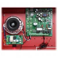 Sursa de alimentare LED EN54-5A40 27.6V, 5A pentru sistemele de incendiu, montare aparenta, protectie sabotaj