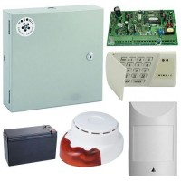Kit antiefractie Posonic EX-10INT-LED 700, Centrala efractie + cutie + acumulator + senzor detectie miscare + sirena interior