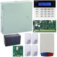 Kit antiefractie Secolink KIT-SEK-4COM, wireless, P16 + 4 detectori + sirena exterior + GPRS