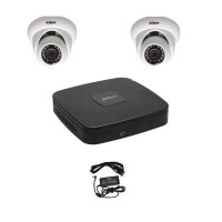 Kit supraveghere video IP cu 2 camere dome 1.3MP