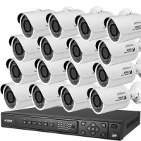 Kit supraveghere video IP Dahua, NVR + 16 camere 3MP, PoE