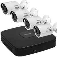 Kit supraveghere video IP Dahua, NVR + 4 camere 3MP, PoE