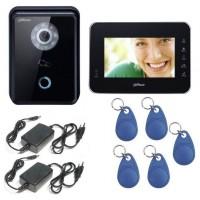 Kit videointerfon IP Dahua 1 familie - apelare pe smartphone si control acces