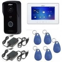 Kit videointerfon IP WIRELESS Dahua 1 familie - apelare pe smartphone si control acces