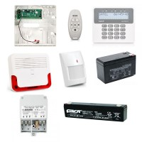Kit alarma wireless Satel cu tastatura wireless, detector de miscare wireless si sirena wireless
