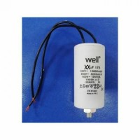 Condensator pornire motor 400V 25uF cu fir Well MOTCAP-25UF-WR-WL