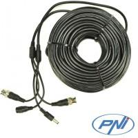 Cablu video si alimentare PNI CCTV 30M pentru camera de supraveghere 30m