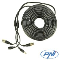 Cablu video si alimentare PNI CCTV 40M pentru camera de supraveghere 40m
