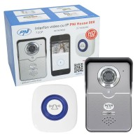 Interfon video cu IP PNI House 900 wireless P2P card si vizualizare pe Smartphone cu Android sau IOS PNI-IV900R