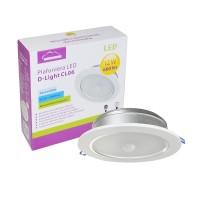 Plafoniera LED SilverCloud D-Light CL06 12W cu 2 senzori de lumina si miscare PNI-SCCL06