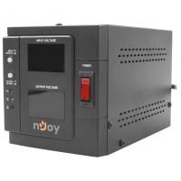AVR nJoy Akin 1000, 1000VA/800W, cu releu, LCD Display, functie de intarziere la pornire, functie de selectie a tensiunii, PWAV-10001AK-AZ01B