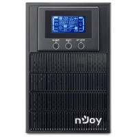 UPS nJoy Aten 1000, 1000VA/800W, On-line, LCD Display, 3 Prize Schuko cu Protectie, Management, Tower, Dubla conversie PWUP-OL100AT-AZ01B