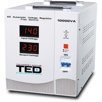 Stabilizator de retea cu triace maxim 10000VA / 9000W Ted 10000