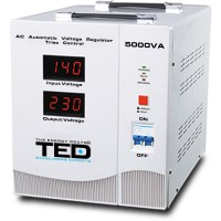 Stabilizator de retea cu triace maxim 5000VA / 4500W Ted 5000SVC