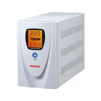 UPS V-Mark, UPS-1000VP, 1000VA, 8 min back-up (half load), LCD Display, Power Management Software - Cable