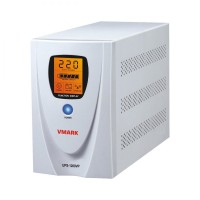 UPS V-Mark, UPS-1200VP, 1200VA, 8 min back-up (half load), LCD Display, Power Management Software - Cable