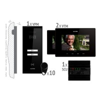 Kit videointerfon smart+ Electra VKM.P2SR.T7S4.ELB04 pentru 2 familii