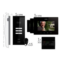 Kit videointerfon smart+ Electra VKM.P3SR.T7S4.ELB04 pentru 3 familii
