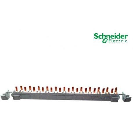 Busbar (pieptene) 1P+N 24 x 9mm Schneider 21501