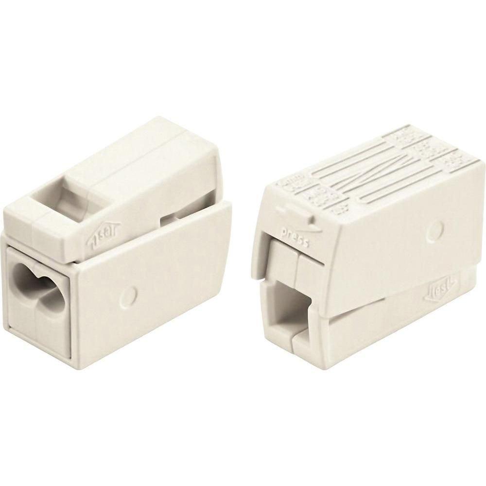 Set 10 cutii de conexiuni cu buton 1P/3pin 2 5mm2 24A Wago 224-112