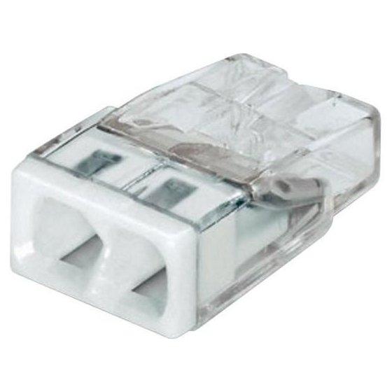 Set 10 conectori cu fixare prin impingere 2 conductoare 2 5mm2 24A Wago 2273-202