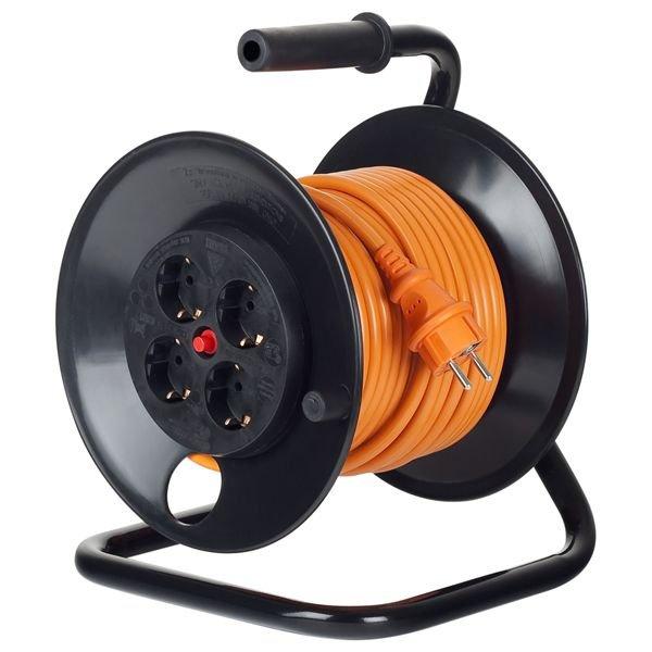 Prelungitor pe tambur 4 prize 25m ( 3x1.5 mm ) Bachmann 392.225