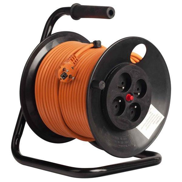 Prelungitor pe tambur 4 prize 40m ( 3x1.5 mm ) Bachmann 392.240