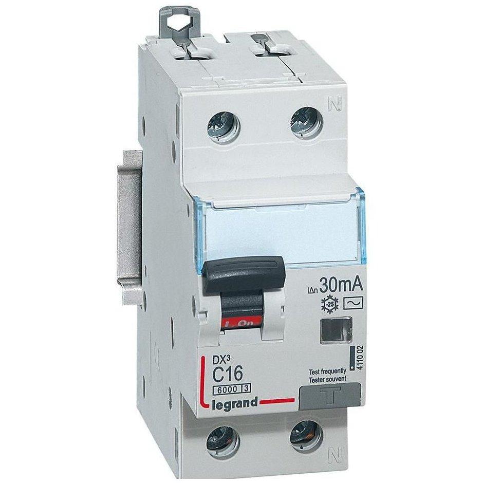 Disjunctor cu protectie diferentiala 1P+N 16A/30mA Legrand 411002