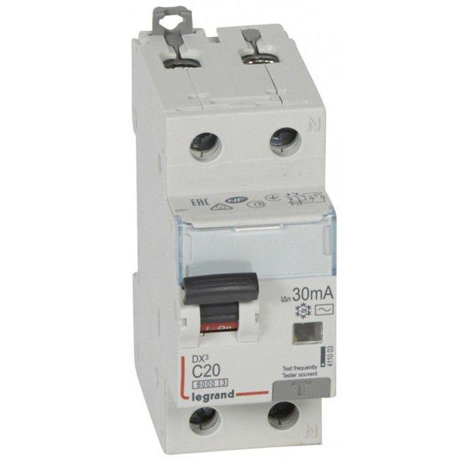 Disjunctor cu protectie diferentiala 1P+N 20A/30mA Legrand 411003