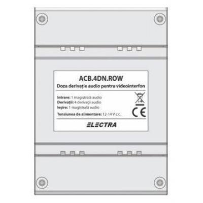 Doza Derivatie Audio Electra Acb.4dn.row
