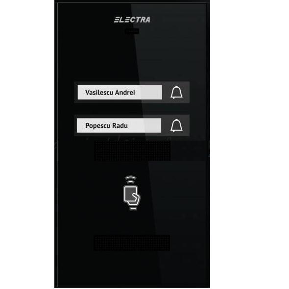 Panou Exterior Interfon Audio Pentru 2 Familii Electra Apm.2s0.rob