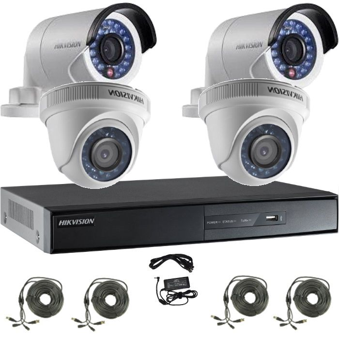 Kit Turbo Hd 720p Cu 2 Camere Bullet Si 2 Camere Dome
