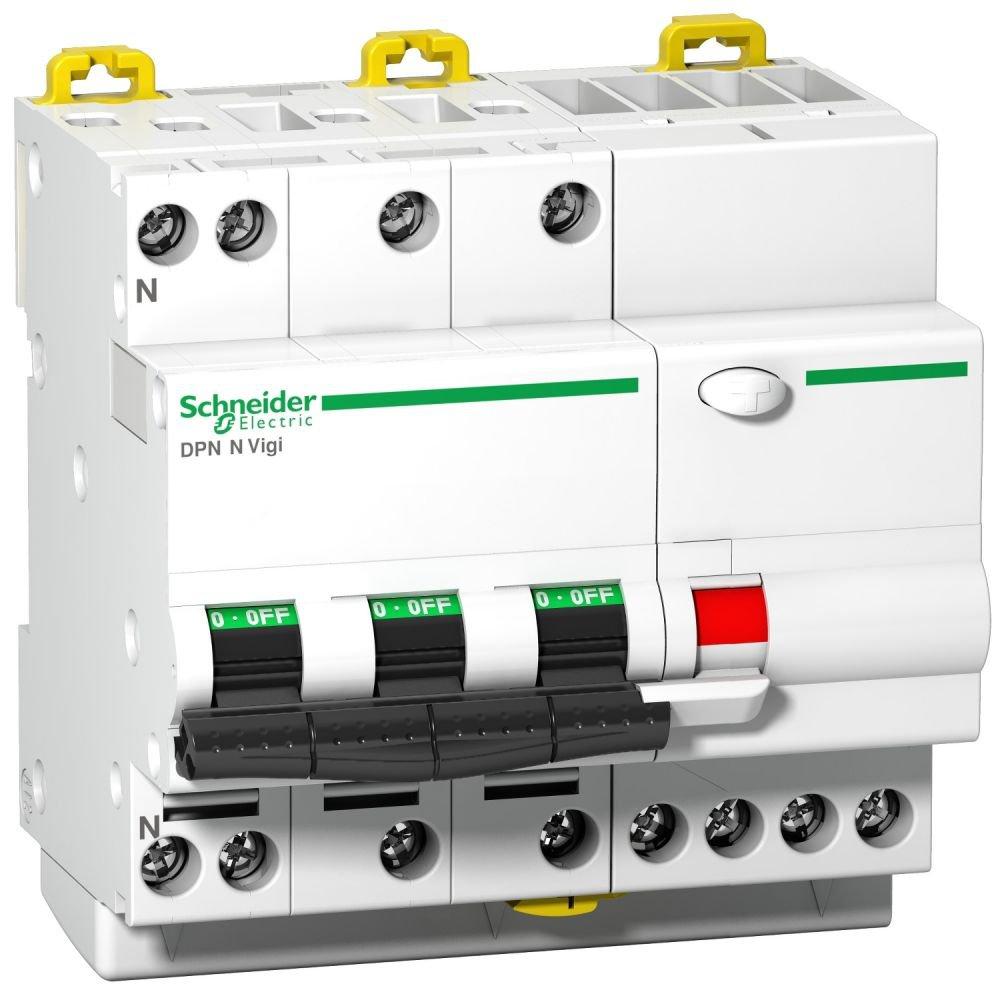 Intrerupator automat cu protectie diferentiala 3P+N 40A 6 kA/30mA C Schneider A9D31740