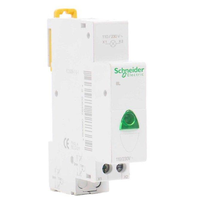 Lampa de semnalizare modulara IIL Verde Schneider A9E18321